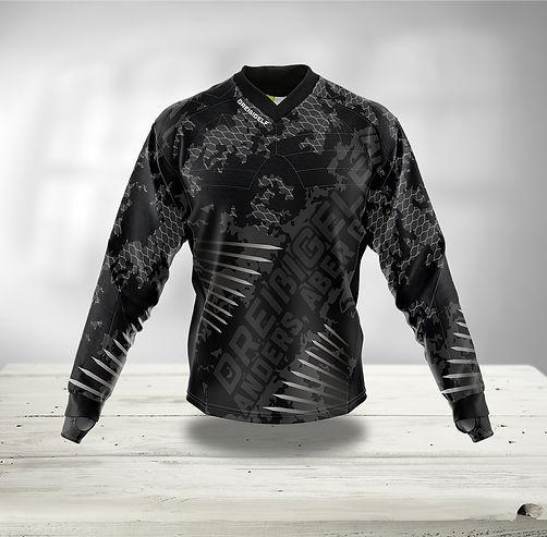 Paintball JerseyCao/Tarn Muster schwarz grau mit Stacheln und Netz