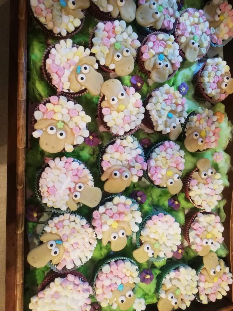 lustige Muffins als Schafherde (Kundenfoto)