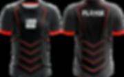 Clan Shirt in schwarz mit roten Streifen selbst gestalten