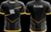 Edles Esports Jersey Design in gold und schwarz