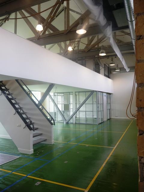 Interieur voormalige gymlokaal SBO