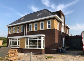 Nieuwbouw 2-1kapwoningen te Stiens