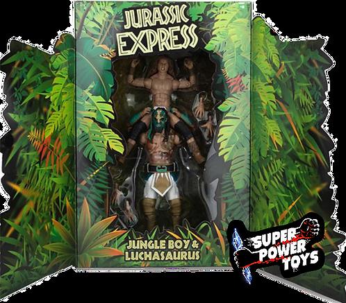 JURRASIC EXPRESS - Jungle Boy & Luchasaurus Ringside Exclusive 2 pack