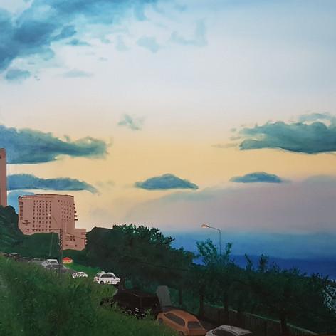 Sunset – Impression: Panorama to Bat Galim