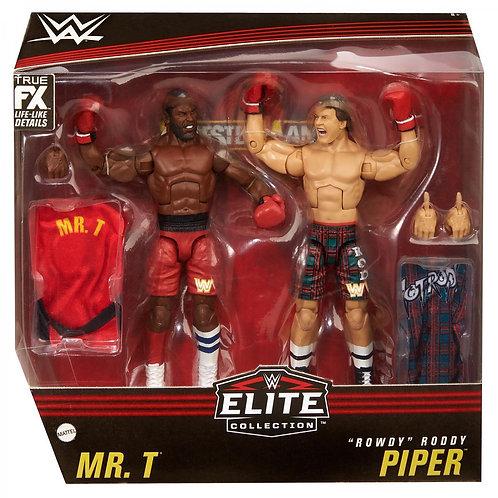 Mr.T vs 'Rowdy' Roddy Piper Wrestlemania 2 Elite Exclusive 2 pack