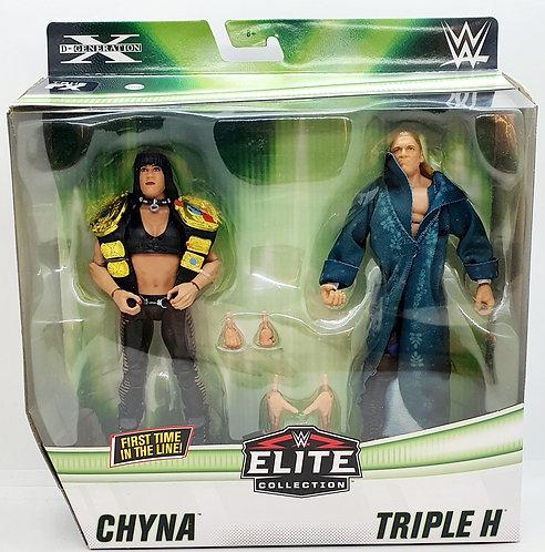 CHYNA & TRIPLE H (HHH) - WWE Elite 2-Pack *MINOR BOX WEAR*
