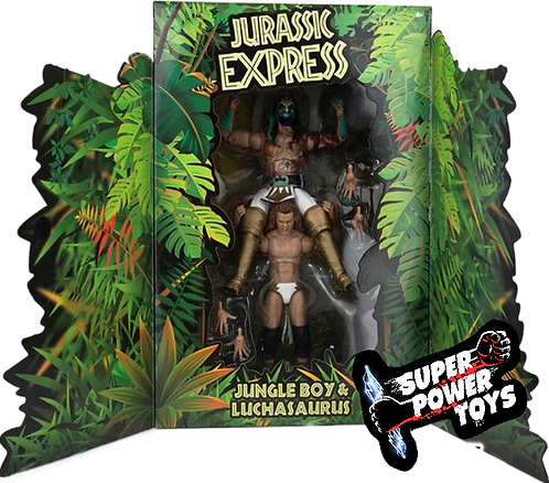 JURRASIC EXPRESS - Jungle Boy &  Luchasaurus Ringside Exclusive 2 pack - VARIANT