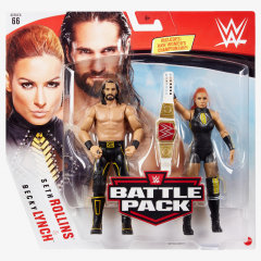 SETH ROLLINS AND BECKY LYNCH- WWE BATTLE PACK SERIES #66