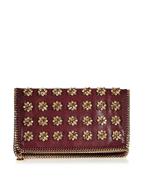 FALABELLA CRYSTAL EMBELLISHED CLUTCH