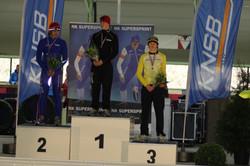 Podium NK Supersprint (100m)