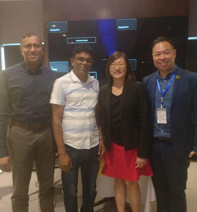 Vidia Mooneegan,Vasenden Dorasami, Lim Wee Khee, Joshua Teo
