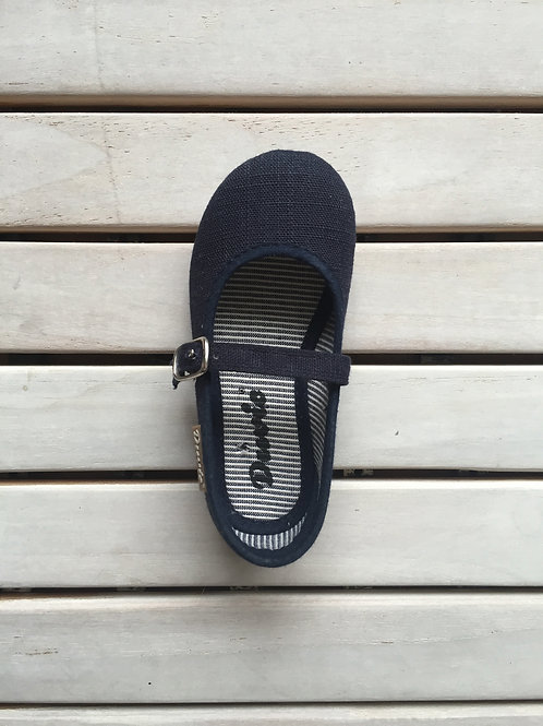 MARY JANES VELCRO NAVY BLUE (NOT BUCKLE) available at Sea Apple shop at UnitedSq