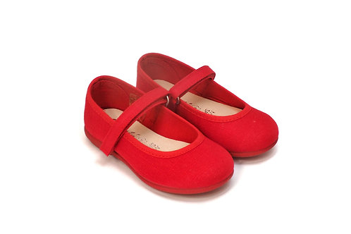MARY JANES VELCRO RED