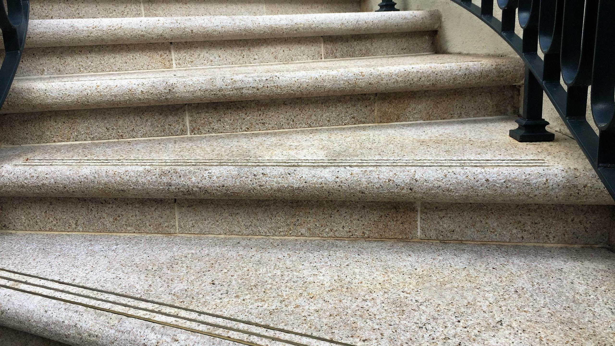 Golden Dune Granite stairs