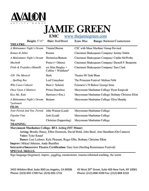 Jamie Green- Actor Resume AVALON jpg.jpg