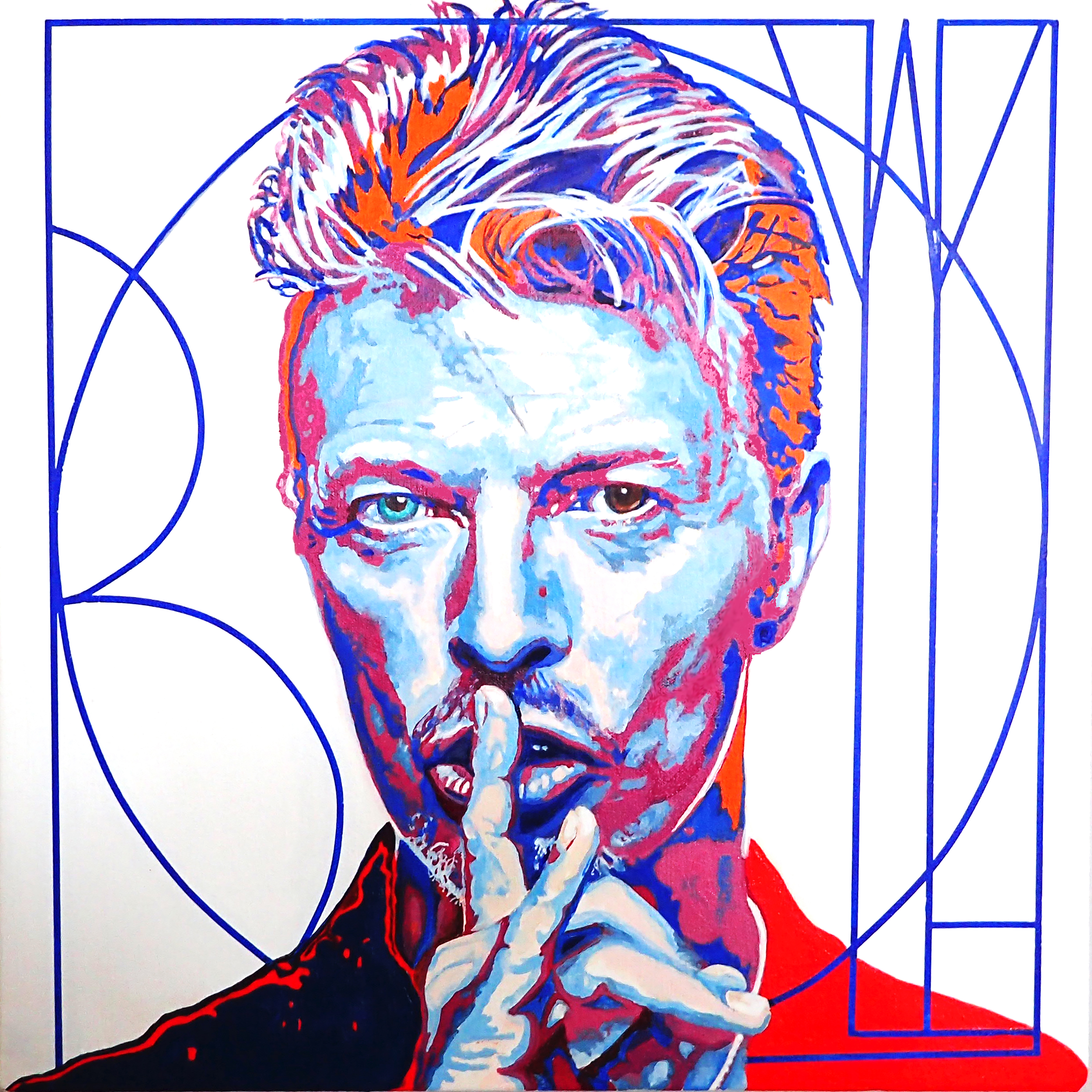 Tony Abboreno_Bowie glicee framed print_$450