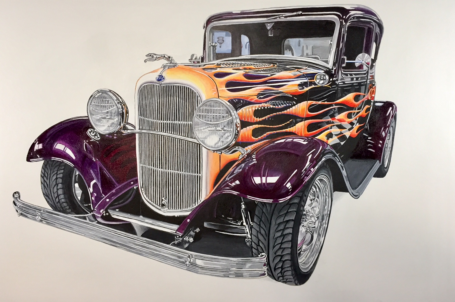 32 Ford Deuce Hot rod ,48x32 inches