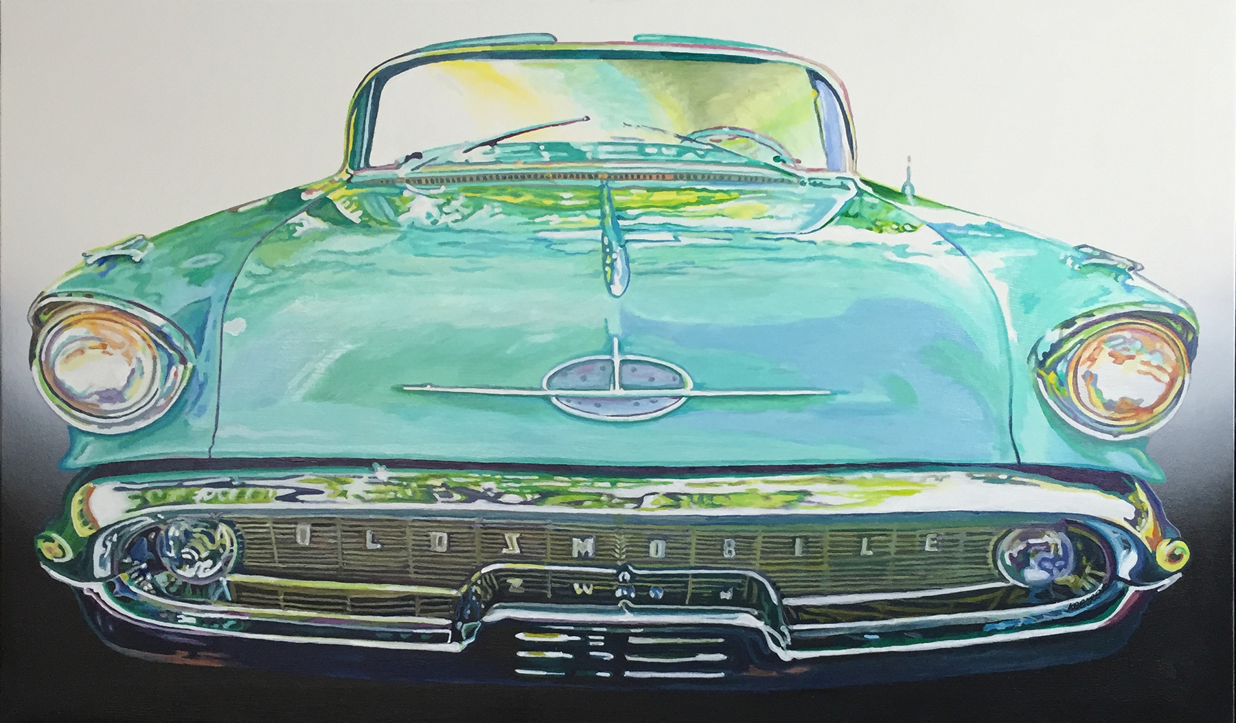 Tony Abboreno_57 Oldsmobile 88 Convertible_40x24in_acrylic on canvas_$1600
