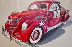 1937 Lincoln Zephyr 48x32 in. acrylic on canvas