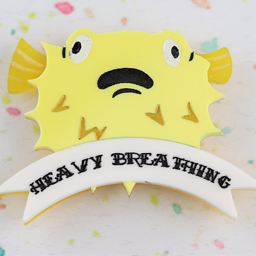 Heavy Breathing Brooch