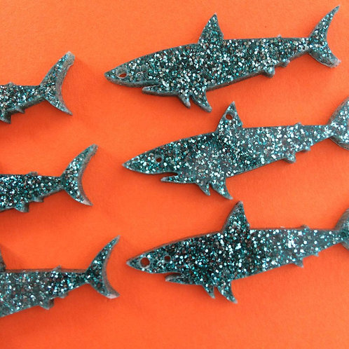 6 Shark charms