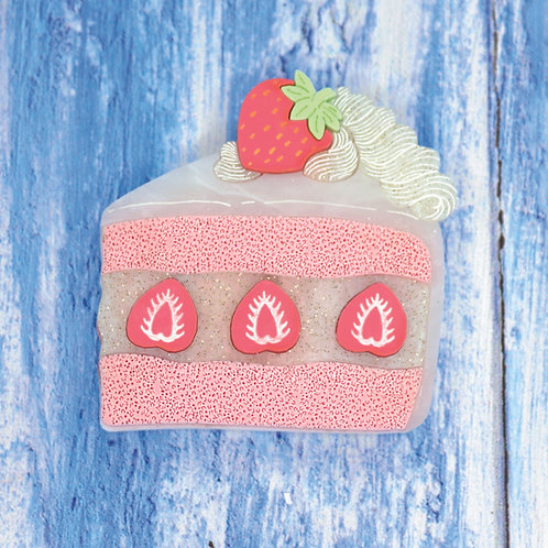 Strawberry Cake Brooch