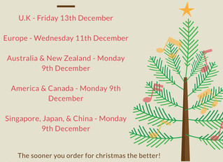 Important Christmas Dates!