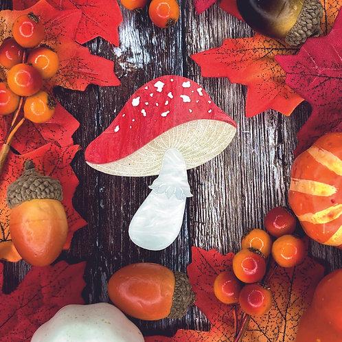 Magic Mushroom Brooch