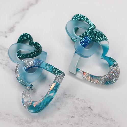 Aphrodite Link Earrings - Glacier