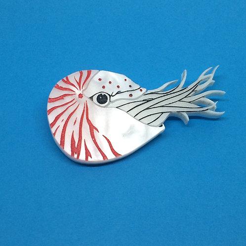 Nautilus Brooch