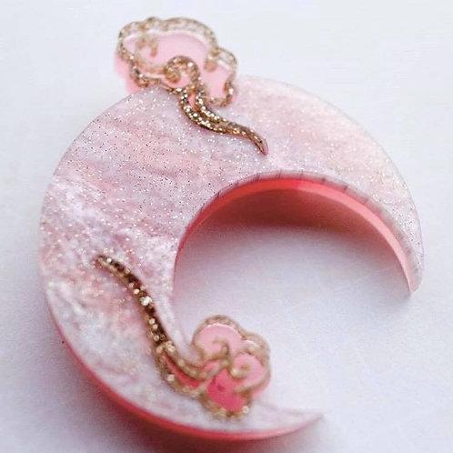 Pink Moon Brooch PREORDER