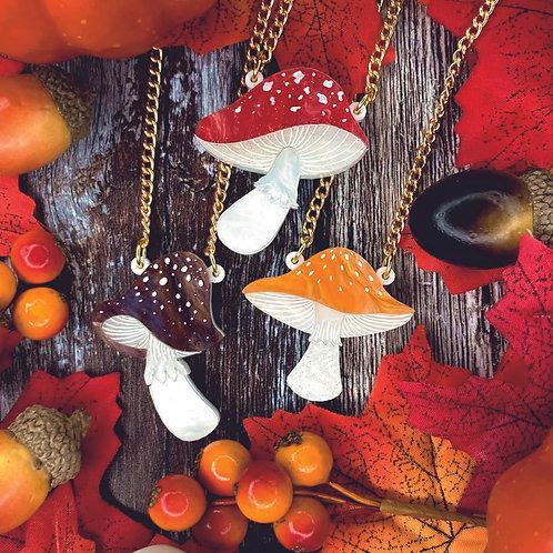 Magic Mushroom Mini Necklace