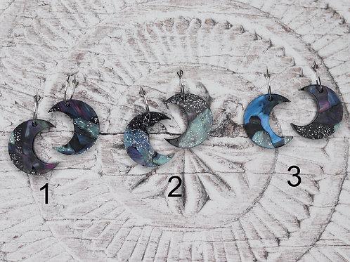Luna Hoop Earrings - Midnight