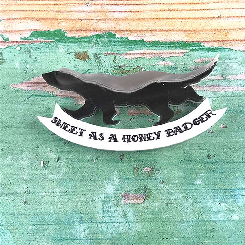 Honey Badger Brooch
