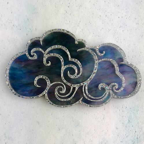 Noir Cloud Brooch