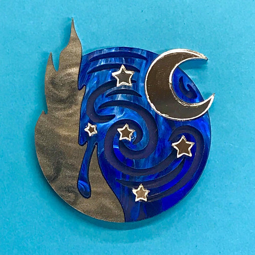Pre-order Starry Night Brooch *Silver Edition*