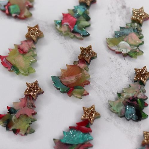 Green Christmas Brooch