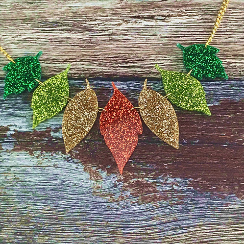 Transitional Leaves Necklace
