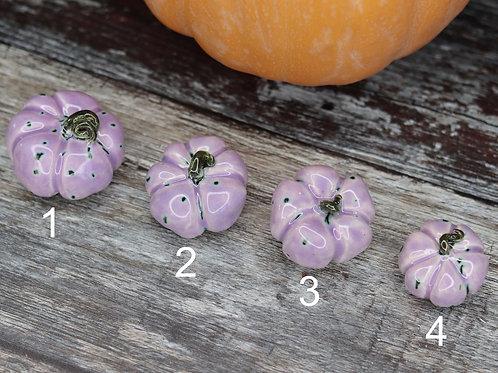 Ceramic Pumpkin - Lilac Dapple