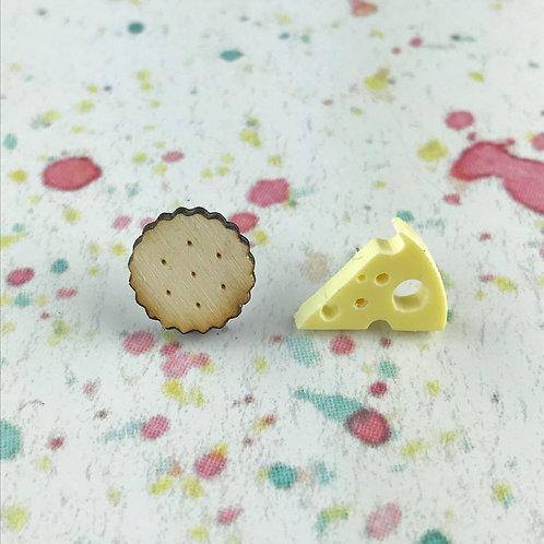 Cheese & Cracker Earrings
