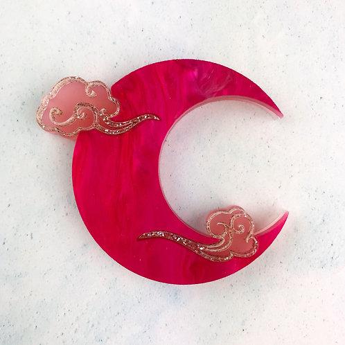 Hyper Pink Moon Brooch