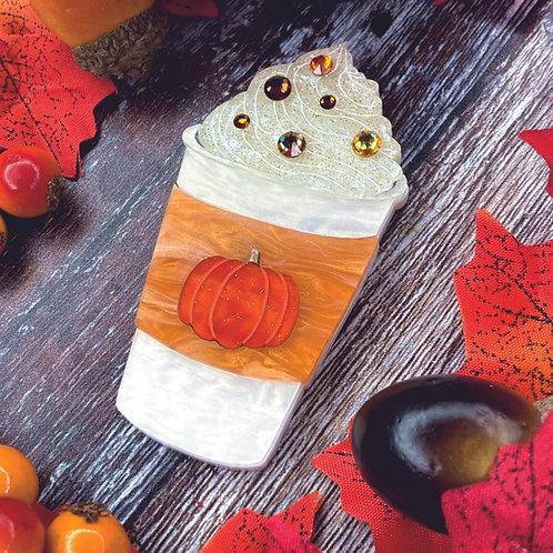 Pumpkin Spice Brooch