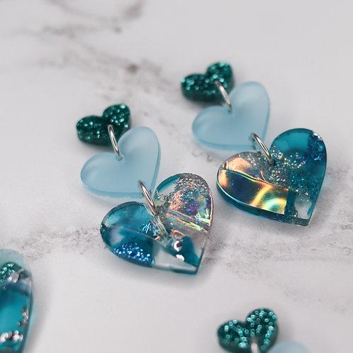 Aphrodite Trio Earrings - Glacier