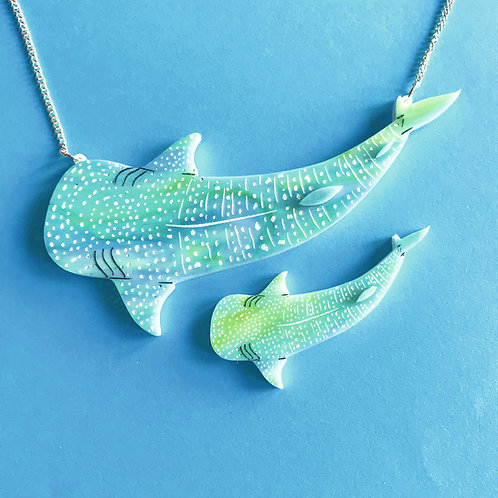 Whale Shark Necklace (blue swirl)