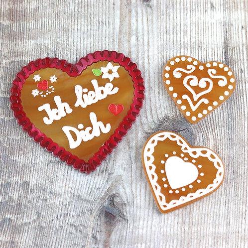 Gingerbread Brooch Set