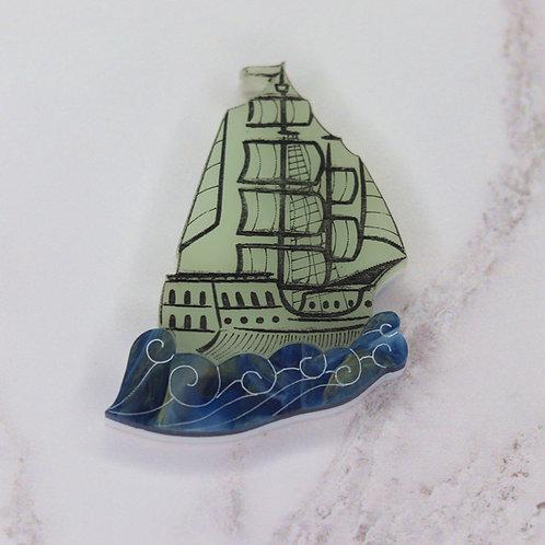 Ghost Ship Brooch