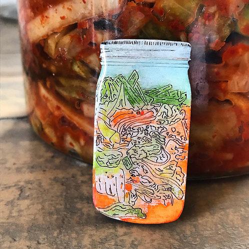 Kimchi Brooch