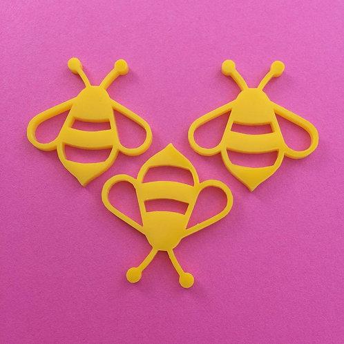 3 bumble bee pendants