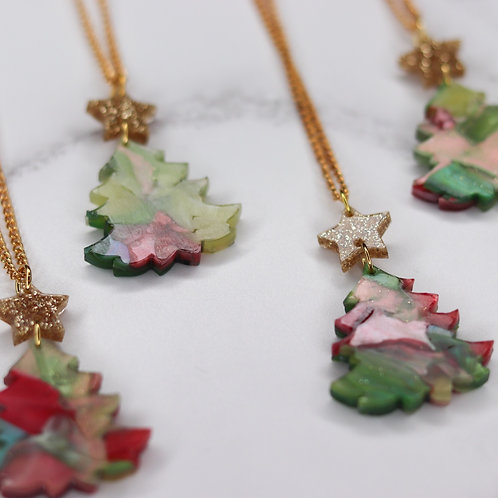 Green Christmas Necklace