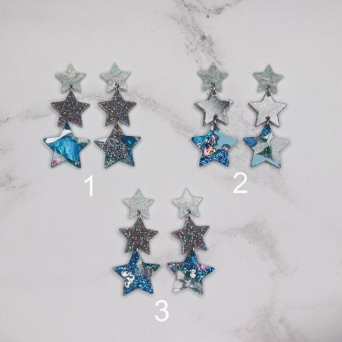 Polaris Trio Earrings - Glacier